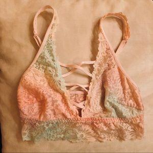 2 Lace Bralettes • Pink Victoria's Secret